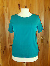 LAURA ASHLEY kingfisher blue-green silky short sleeve tunic top t-shirt 16 42