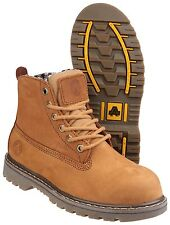 Amblers FS103 Safety Womens Steel Toe Cap Boots Leather Lace Up Shoes UK3-8