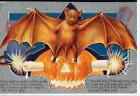Antique Halloween Post Card  -Bat Pumpkin Candle Series NO. 2