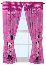 Disney Minnie Mouse Toddler Girls Window Curtain Drape Panels Pink Bow-tique NEW