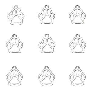 Dog Paw Charm Hollow Tibetan Silver Pendant Bear Pack of 20
