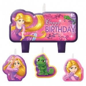 Disney Princess Tangled Rapunzel Birthday Candles Set of 4