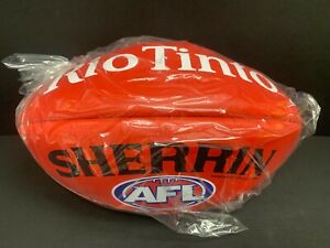 AFL SHERRIN KANGAROO BRAND RED OFFICIAL LEATHER GAME FOOTBALL Rio Tinto