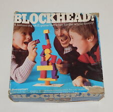 Vintage PRESSMAN BLOCKHEAD Wooden Balancing Skill Game #4470 Complete R10930