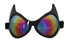 SteamPunk Cosplay Cat Eye Style Frame Rainbow Lens Goggles Glasses, NEW UNUSED