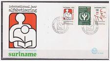 Surinam / Suriname 1990 FDC 135xx Alfabetisering alphabetic alphabetisch