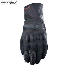 Gants noirs en cuir en nylon pour motocyclette