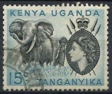 "K.U.T. 1954-9 SG#169a, 15c QEII Definitive Used Stop Below ""C"" #D22726"