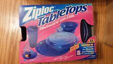 New listing Ziploc TableTops 24 Piece Combination Set Cups Bowls Plates & Lids New