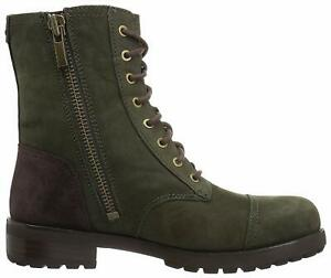 Ugg Australia shearling Kilmer Suede Slate Mid-Calf Combat lace bootie Boots 8 9