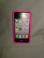 iphone 4s cell phone case - Soft Feel - Pink & Black Cover