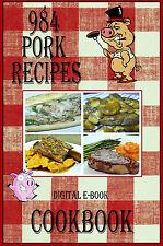 984 Delicious Recipes Using Pork E-Book Cookbook CD-ROM