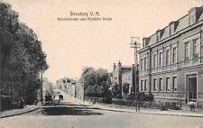 Strasburg (Uckermark) Bahnhofstrasse und Altstädter Strasse Postkarte 1918