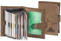 Woodland® Kreditkartenetui aus Leder in Dunkelbraun mit Platz für min. 19 Karten