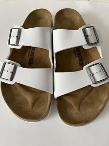 Birkenstock Mens Arizona Soft Footbed White Slides EUR 44 Size US 11