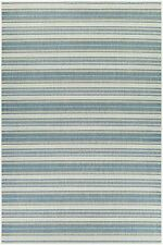 "5x8 (5'3"" x 7'6"") Tropical Coastal Blue Stripe Indoor Outdoor Area Rug"