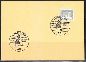 Germany Berlin 1963 used card Dortmund stempel cancel