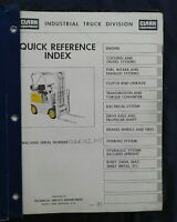 """1962-1968 CLARK """"C500 30 40 50 Y HY"""" SERIES FORKLIFT PARTS CATALOG MANUAL"""