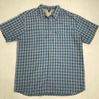 The North Face Shirt Men's XL Short Sleeve Casual Plaid Vented Back Button Up