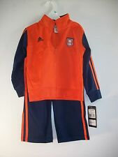 Adidas Football Navy & Orange 2 Piece Jogging Suit Size 2T