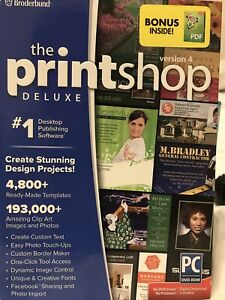 New Broderbund The Printshop Deluxe  Version 4  Windows Design & Photo Editing