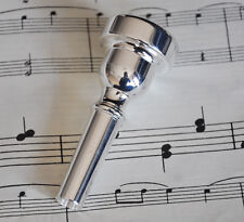 Top Silver plated Metal Mouthpiece for Bb Flugelhorn 9.5mm inserting dia. New