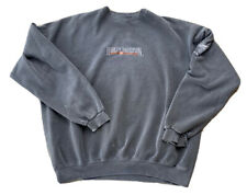 Vintage Harley Davidson Spell Out Gray Distresssed Sweatshirt Mens XL