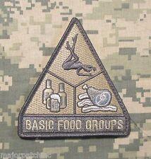 BASIC FOOD GROUPS USA ARMY MORALE BADGE ACU LIGHT HOOK PATCH