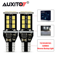 921 T15 CANBUS LED Reverse Backup Light Bulb Error Free W16W 912 White 2400LM