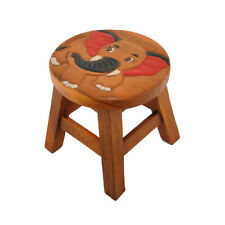 Childrens/Childs/Kids Wooden Stool - Brown Elephant