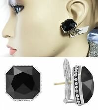 $695 LAGOS LARGE Silver Gold Color Rocks Onyx Doublet Earrings Women Lady Gift A