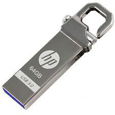 HP 64GB x750w USB3.0 Flash Pen Drive Memory Stick Key Thumb Disk Hook Lock Metal