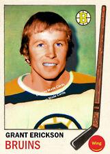 Custom made Topps 1969-70 Boston Bruins Grant Erickson hockey card
