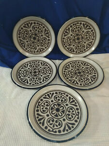 NORITAKE~Folkstone~New Santa Fe~Dinner Plates~Set of 5~NICE!
