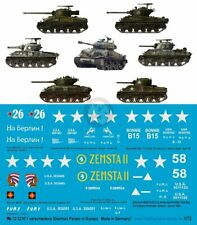 "Peddinghaus 1/72 Sherman Tank Markings (incl. ""Fury"") Europe WWII (7 tanks) 3210"