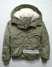 NWT Womens American Eagle Sherpa Hooded Puffer Bomber Jacket Coat XS S M L