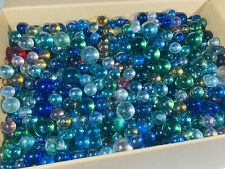 Vintage Marbles - Solid Colour Clear - Mixed Sizes Colours And Conditions - g