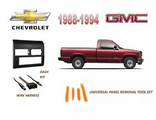 Fits 1988-1994 CHEVY, GMC FULL SIZE TRUCK STEREO INSTALL DASH KIT(BLUE), HARNESS