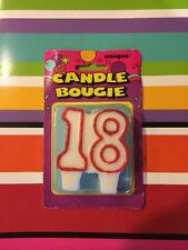 18th Birthday Cake Candle Unique Party Candle Bougie USA SELLER GLITTER Red
