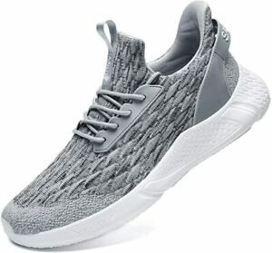 Men's Running Shoes Sock Sneakers - Air Knit Mesh Breathable Sport Shoes Lace-up