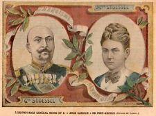 PORT ARTHUR GENERAL STOESSEL ET SON EPOUSE WIFE IMAGE 1904 PRINT