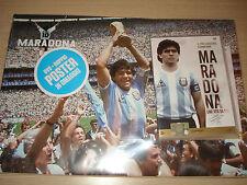 DVD N°1 UNA VITA DA GOL + POSTER MARADONA NON SARO´ MAI UN UOMO COMUNE