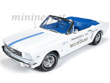 AUTOWORLD AW209 INDY 500 PACE CAR 1964 1/2 FORD MUSTANG CONVERTIBLE 1/18 WHITE
