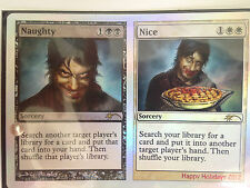 NAUGHTY/ NICE FOIL 2012 MTG w/ Ruby Sapphire Emerald & Diamond Crystal Set