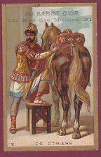 Chromo AU SABOT D'OR FLEURY - 120613 - les étriers - cavalier cheval
