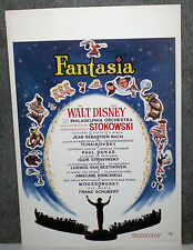 FANTASIA original Disney rolled movie poster MICKEY MOUSE 14x22