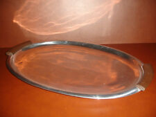 "NEW LENOX URBAN ACCENTS LARGE SERVING TRAY ALUMINUM PLATE PLATTER 18"" x 12"""