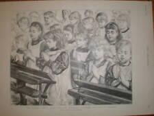Escolar niños en oración Paul Renouard 1894