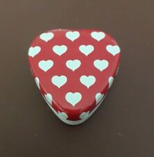 Vintage Metal Tin Heart Container Trinket Box