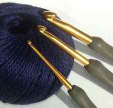 2.5mm TULIP ETIMO Cushion Grip Aluminium Gold CROCHET HOOK needle yarn knitting